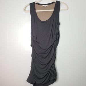 Cabi Gray 100% Rayon Dress S